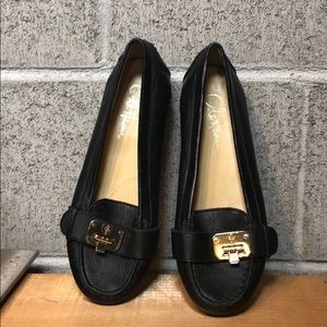 Black Cole Haan Leather Loafers Size 6